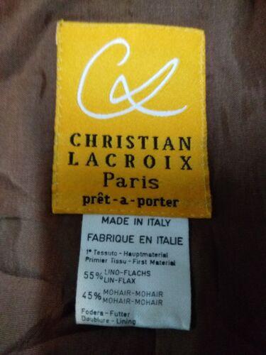 Taille Christian Pure Femme Lacroix Veste Veste 42 Lin aYqwHFwRU