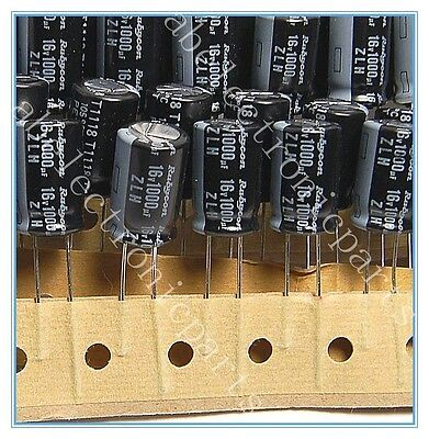 10X 1000uf 16v Rubycon Radial Electrolytic Capacitors MHZ 16v1000uf Low ESR