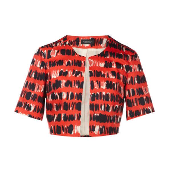 Strenesse bolero de algodón con  el cierre de corchete rojo señora  genuina alta calidad