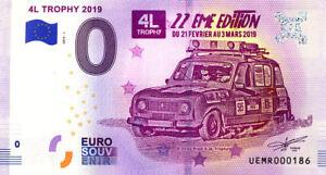 67-STRASBOURG-4L-Trophy-N-de-la-2eme-liasse-2019-Billet-0-Souvenir