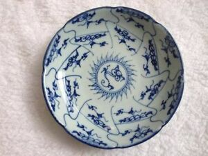 Plate-Blue-and-White-Porcelain-Pattern-Antique-Exquiste-Chinese