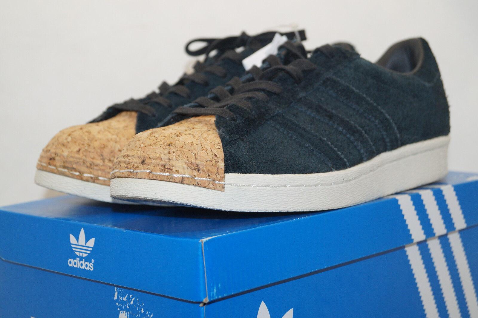 ADIDAS ORIGINALS superstar 80s Cork eu.38.6 uk.5.5 Suede sneakers Suede uk.5.5 by2963 Black 38a5b4