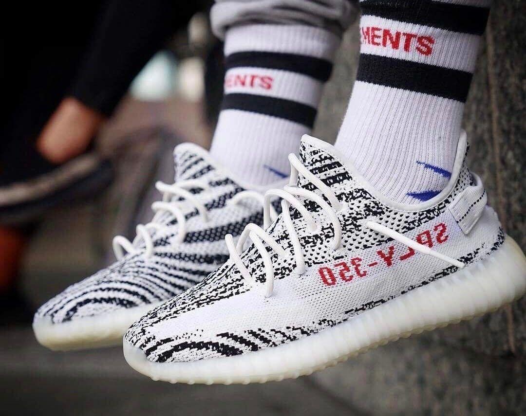Yeezy 350 Impulso V2 Zebra Zebra V2 Cp9654 Dimensioni 9.5 Autentico 14be52