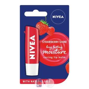 Details about SET NIVEA LIP BALM CARE FRUITY SHINE STRAWBERRY + BLACKBERRY MOISTURE 4.8 G.