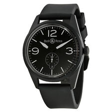 Bell and Ross Black Dial Rubber Automatic Mens Watch BRV123-BL-CA-SRB