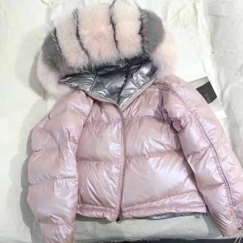 winter jacket women coat parka bomber cotton duck fox Vulpes lagopus fur collar