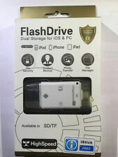 Flash Device Drive per iOS iPhone,iPad, Android OTG, SD/TF,hd Esterno USB iStick