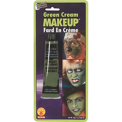 Halloween Face Paint Party Make Up 1.0oz Green Army Camo Witch Goblin Cream Tube