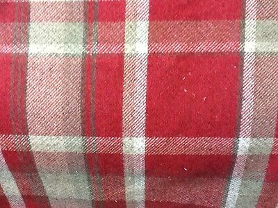 Chatham Glyn Lewis Grey Wool Effect Check fabric by the Half metre