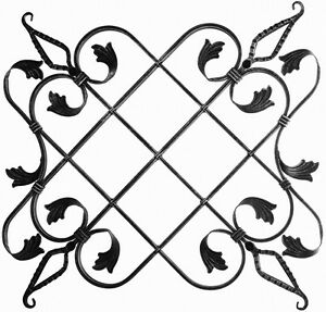 Rosette-fuer-Gartenzaun-Gelaender-Zaun-Tor-Tuer-027-Ornament-Schmiedeeisen-Pforte