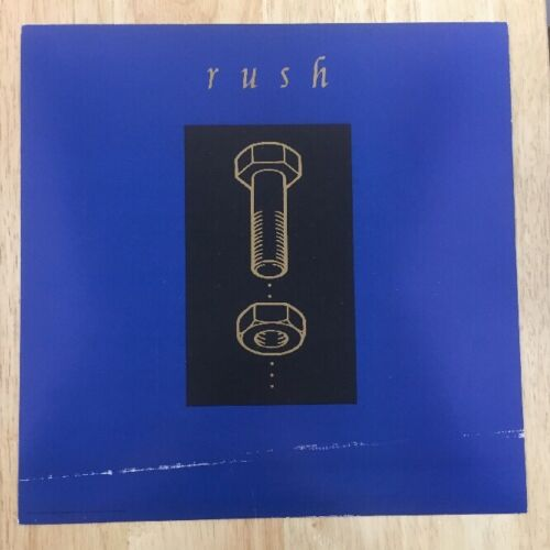 Rush Nuts And Bolts 1993 Promotional Poster 12.5x12.5 Original Rare
