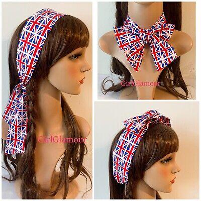 Union Jack Headband Hairband Bandana Hair Tie Band Scarf England Royal Wedding