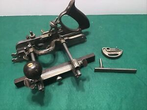 VINTAGE STANLEY 45 SWEETHEART PLOUGH COMBINATION PLANE WITH LARGE SET OF CUTTERS