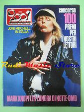 rivista CIAO 2001 18/1983 Jony Mitchell Mark Knopfler Dave Edmuns R.Gordon No cd