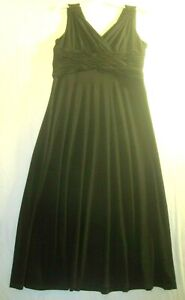 Evan-Picone-Size-12-Gorgeous-Formal-Black-Dress-Fully-Lined-Sleeveless