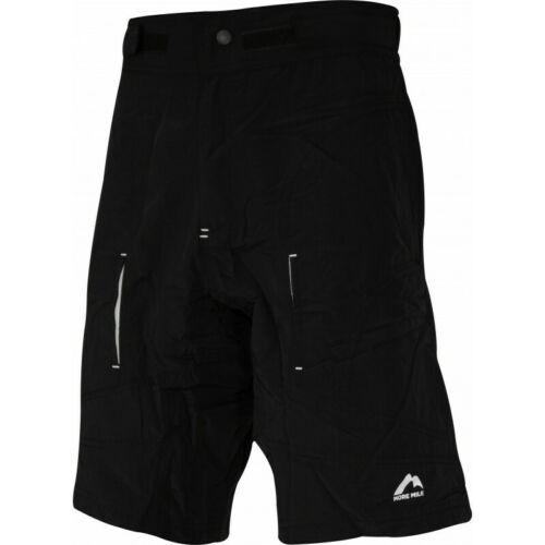 MORE MILE 2 IN 1 TIGHT CYCLING PADDED BAGGY SHORTS POCKETS BLACK SIZE S M L XL