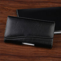 For iPhone 7 6 6s Plus Horizontal Leather Case Carrying Pouch Belt Clip Holster