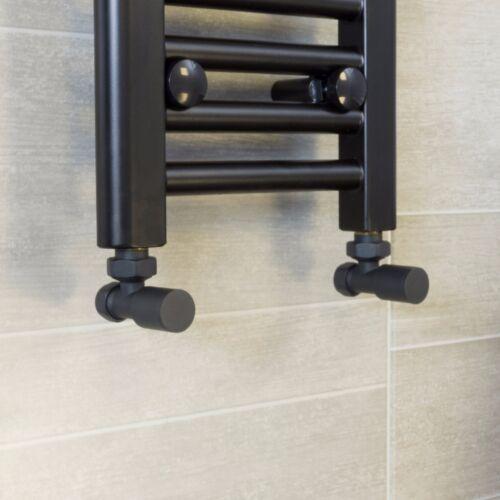 Central Heating Towel Rail Rad Valve Chrome Brushed White TRV Bathroom Radiator