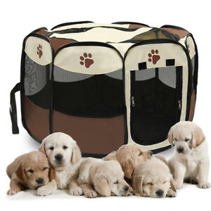 Folding-Soft-Fence-Cage-Kennel-Crate-Pet-Dog-Cat-Tent-Playpen-Exercise-Pla