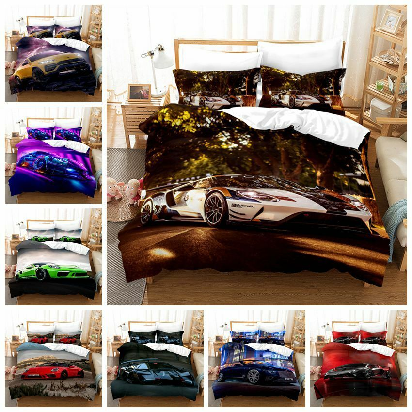 Teen Bedding Set 3Pc Teen Boys Motocross Racer Moto Duvet Cover Pillowcases Full