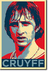 JOHAN CRUYFF ART PHOTO PRINT (OBAMA HOPE) POSTER GIFT DUTCH SOCCER