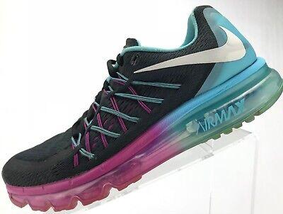 Nike Air Max 2015 Running Training Athletic Sneakers Women's 9 BlackClearwater | eBay