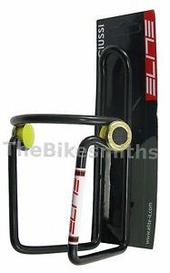 Silver Bike Non Slip Classic Elite Ciussi Alloy Water Bottle Cage Black