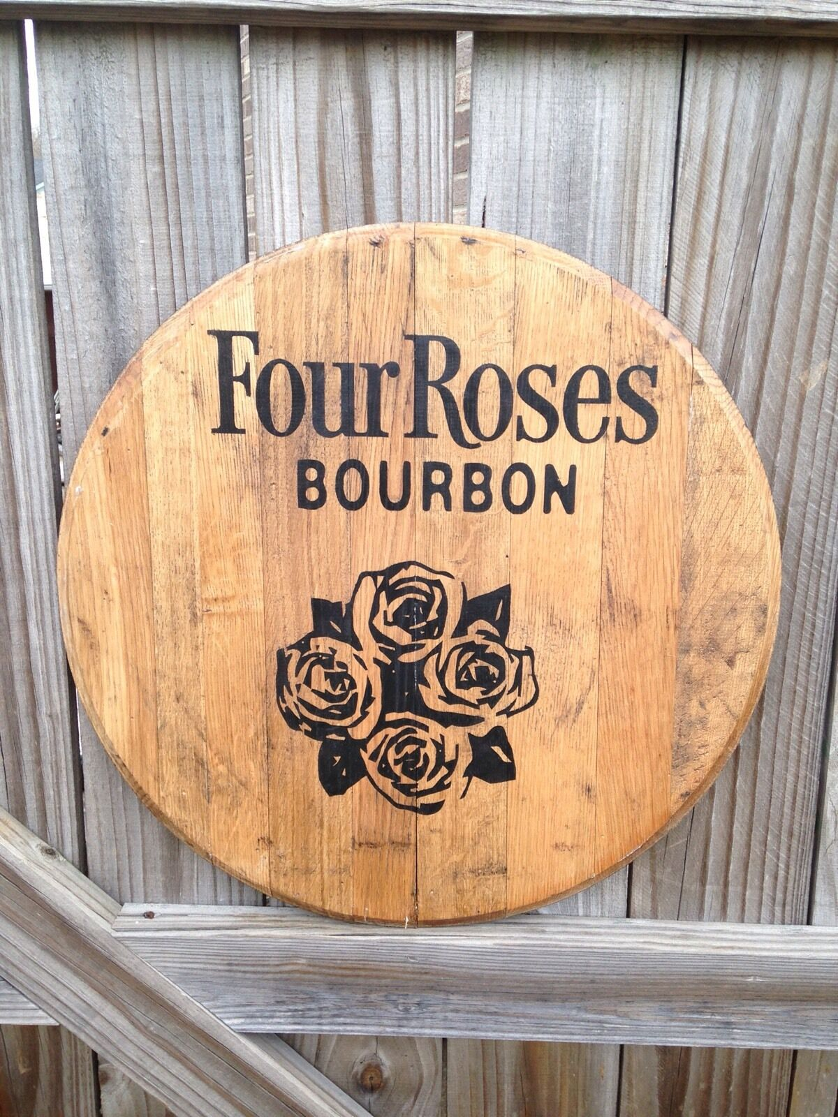 Four pinks Bourbon Whiskey Barrel Top