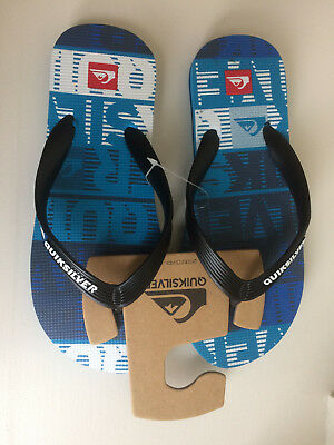 BNWT QUIKSILVER LITTLE MOLOKAI YOUTH BOYS FLIP FLOPS THONGS TONGS EU 33 UK 1