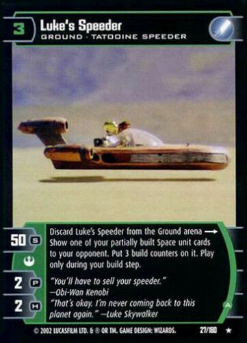 A Star Wars TCG ANH A New Hope Luke/'s Speeder 27//180