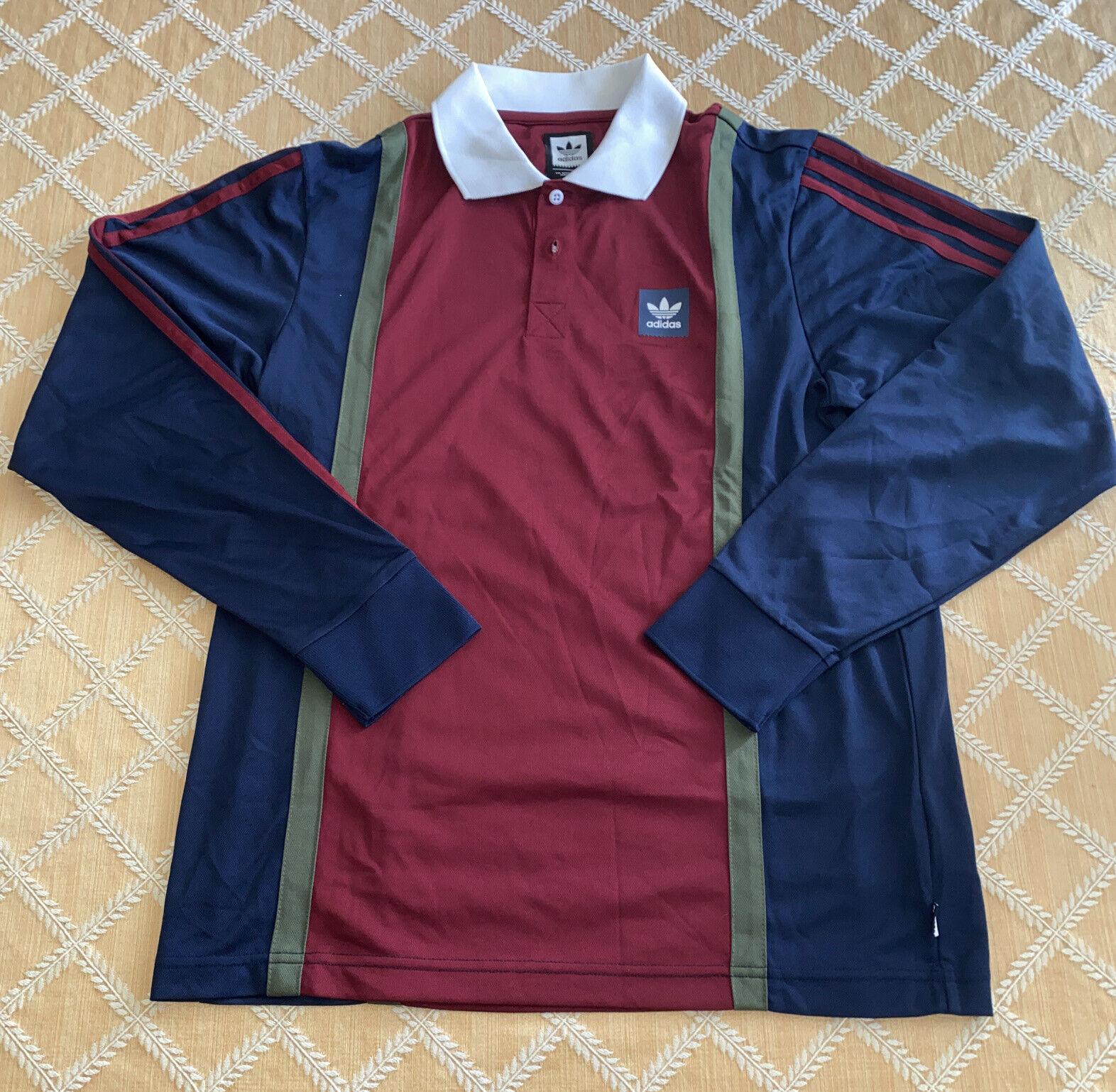 adidas Originals Skateboarding Rugby Jersey Shirt DH6643 Size XL ...