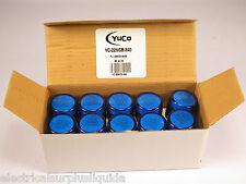 BOX 10 YuCo YC-22NCB-240 Blue LED Pilot Light Panel Light Indicator 22mm 240V AC