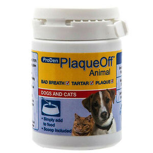 Pro Den Plaque Off Animal, Bad Breath and Tartar Control for Cats and Dogs 60g 5055567814312