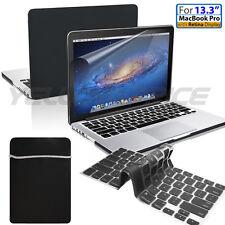 4 in 1 Macbook Pro w/Retina Ruberized Hard Case Sleeve Bag Screen Keyboard Cover