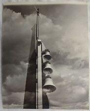 CONTEMPORARY CHURCH BELL TOWER W/ 3 BELLS - SET OF 2 PHOTOS