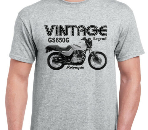 SUZUKI GS650G inspired vintage motorcycle classic bike shirt tshirt