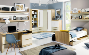 Libreria Per Camera Da Letto : Childrens bedroom furniture corner wardrobe sideboard desk shelf