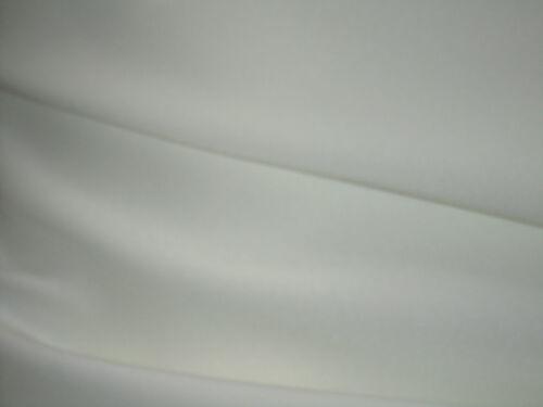 """Noir ou ivoire polyester sergé uni robe tissu drap de couture large 60/"""""""