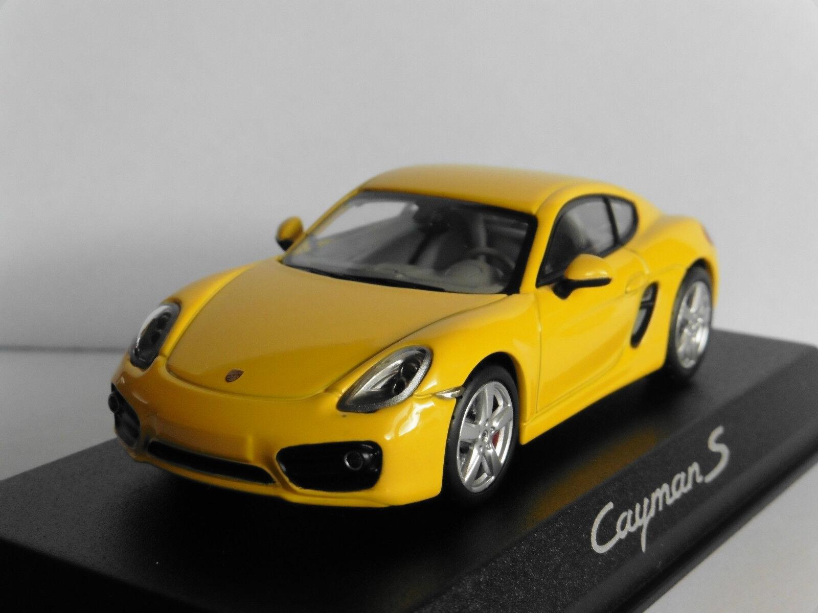 PORSCHE CAYMAN S jaune RACING MINICHAMPS WAP0200310D 1 43 JAUNE jaune