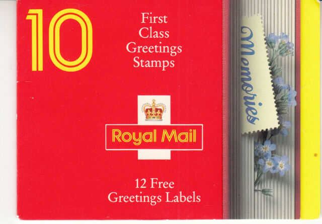 GREAT BRITAIN GB - 1359a - Booklet KX2 - first class greetings stamps - 1991