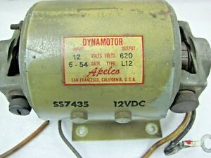 Details About Vintage Dyna Motor Input 12 Volts Dc Out Put 250 V Dc Tested Alepco 182 E 7