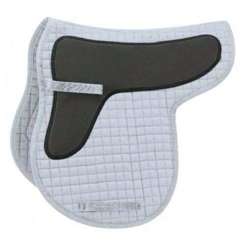 White  w//shock absorbing foam EquiRoyal Quilted Cotton Saddle Pad