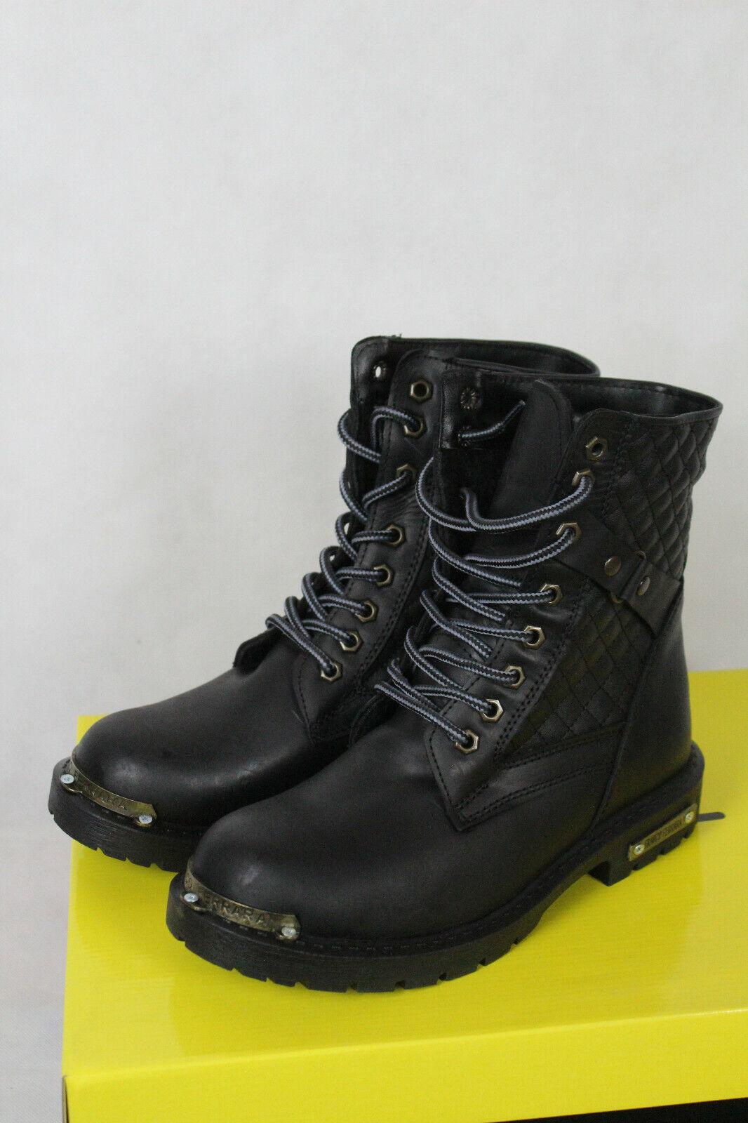 Franco Ferrara FF 1071 Leder Byker-Schuhe Stiefeletten Stiefel Damen Gr,39,neu