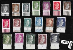 #7132    MNH Adolf Hitler Portrait stamp set / 1941 issues Third Reich Germany