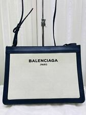 6bcf21c602 AUTHENTIC Balenciaga NAVY POCHETTE 339937 528147 Shoulder Bag*Offer*05121