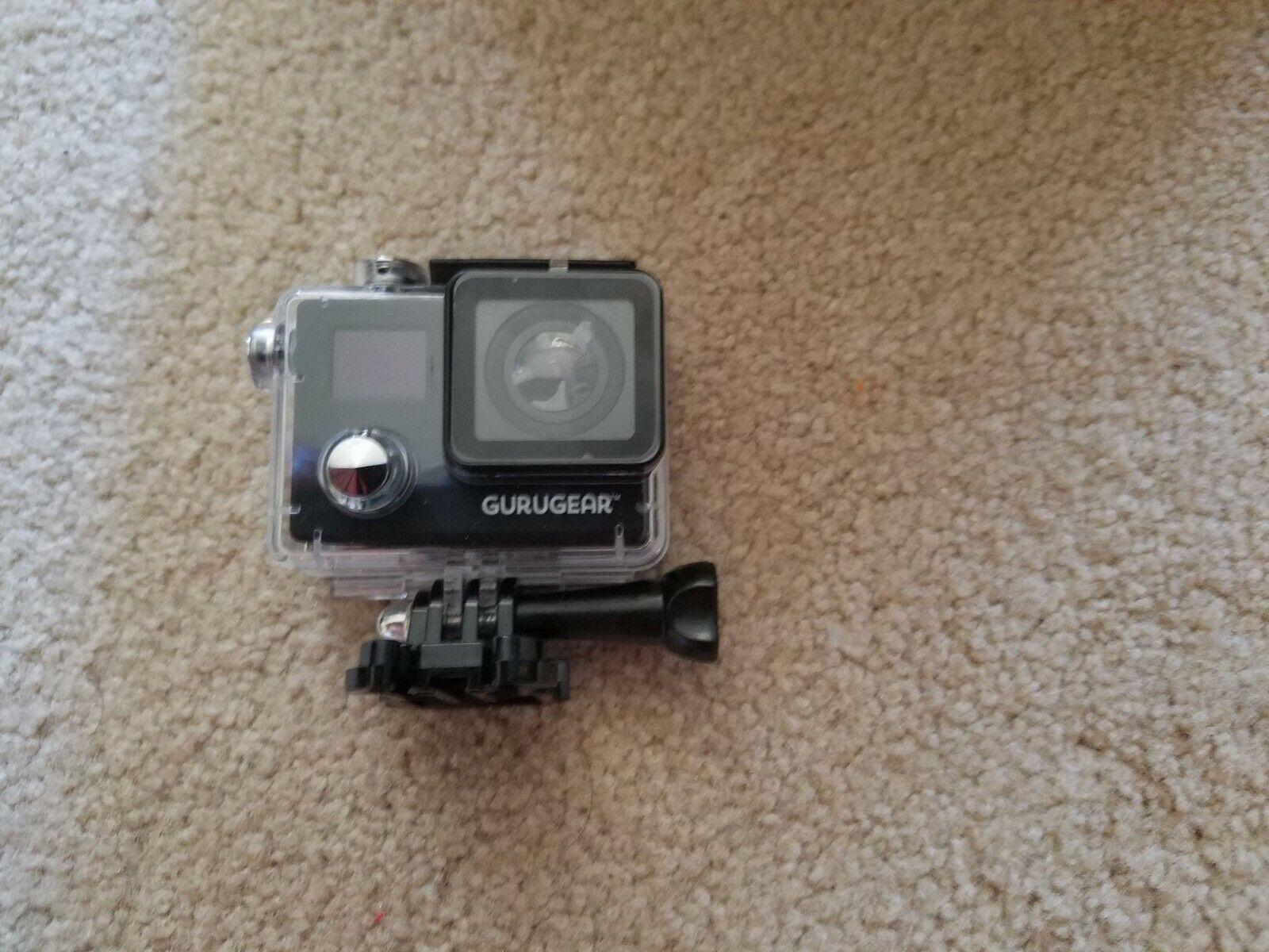 GuruGear 4K UHD Dual-Screen Waterproof Action Camera - Black action black camera gurugear uhd waterproof