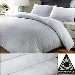 300 400 500 THREAD COUNT SATIN STRIPE 100/% EGYPTIAN COTTON DUVET COVER SET