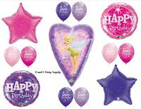 Tinkerbell Purple Happy Birthday Party Balloons Decorations Supplies Fairy Pink