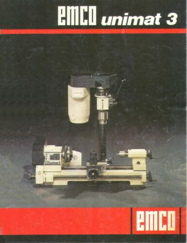 UNIMAT LATHE MANUALS CONVERTED TO PDF FORMAT 5 MANUALS AND 2 CATALOGS