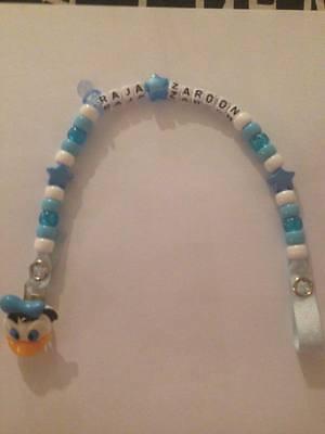 Personalised Dummy Clips Handmade Any Name Disneys Daisy Duck